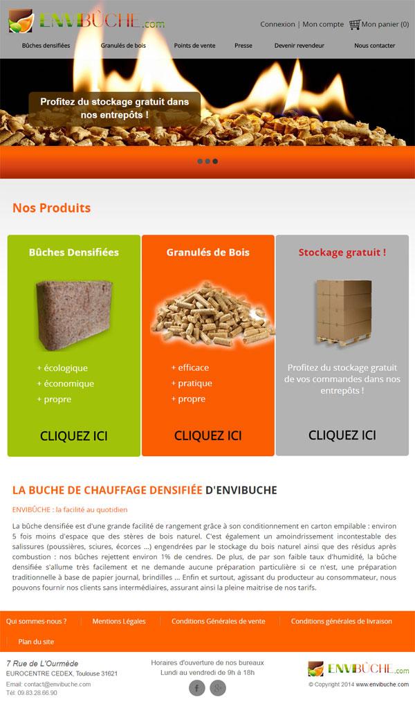 EnviBûche - Fabrication de granulés et bûches de bois compressé