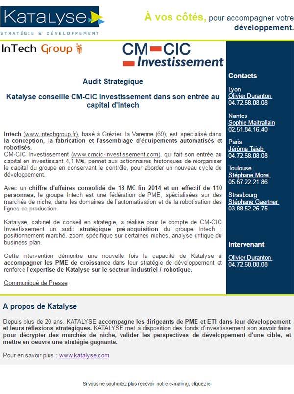 Katalyse - Cabinet de conseil en stratégie d'entreprise